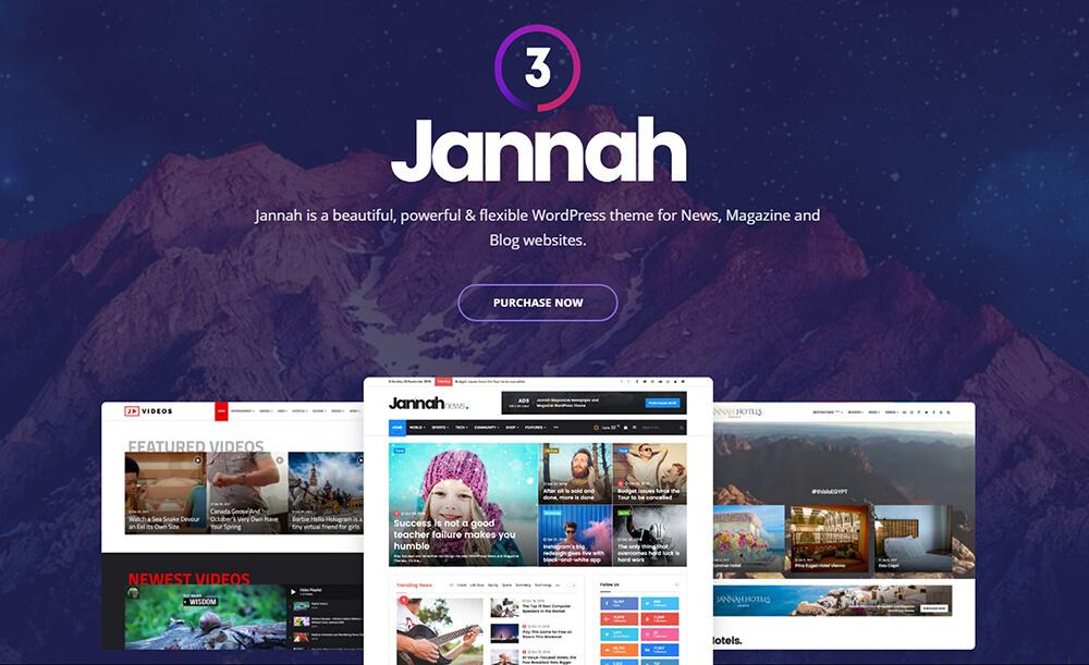 jannah 新闻视频游戏杂志类wordpress主题